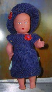Yvonne, Kombination für Puppe 14,5 cm, P343