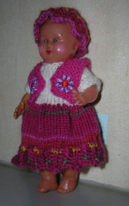 Carola, für Puppe 15 cm, P346