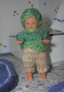 Puppenstuben Kind Norbert, 7 cm