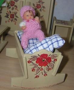 Puppenstuben Baby Olga, 7 cm