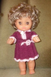 Zonia, Kleid und Höschen für Puppe 25 - 30 cm