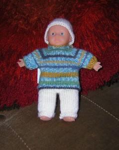 Bernard, Hose, Pulli und Mütze, für Puppe 14 cm