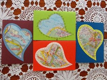 Berlinkarte, Ein Herz für Berlin, Klappkarte - Handarbeit kaufen