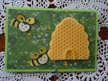 Glückwunschkarte für Imker oder Bienenfreunde - Handarbeit kaufen