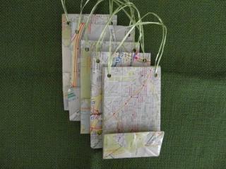 Tüte, Tasche, 5er-Set aus Papier - Handarbeit kaufen