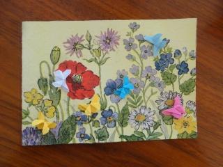 Karte Blütenwiese mit Schmetterlingen