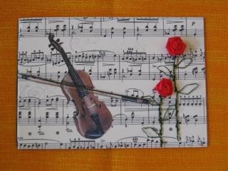 Karte zum Geburtstag, zur Hochzeit, Musikantenkarte - Handarbeit kaufen