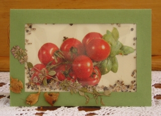 Karte mit Tomaten, Schüttelkarte - Handarbeit kaufen