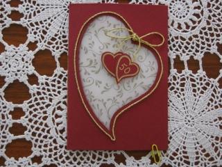 Karte zur Goldenen Hochzeit, 50 Jahre, Klappkarte - Handarbeit kaufen