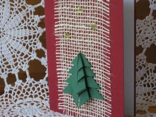 Weihnachtskarte mit Bastelanleitung - Handarbeit kaufen