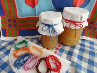 Marmeladendeckchen, Deckelhauben, 10er-Set, 15 cm Durchmesser - Handarbeit kaufen