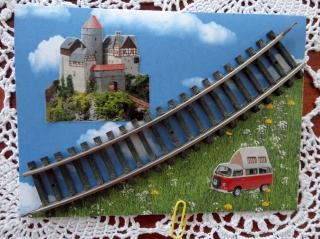 Karte für Modelleisenbahner, Hobbykarte - Handarbeit kaufen