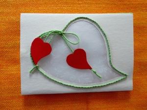 Hochzeitskarte transparent - Handarbeit kaufen