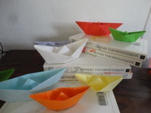 Faltboote, 10er-Set, Origami - Handarbeit kaufen