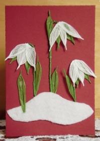 Karte Schneeglöckchen, Geburtstagskarte - Handarbeit kaufen