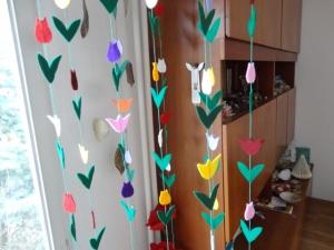 Fensterkette, Tulpenkette - Handarbeit kaufen