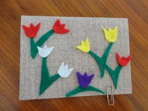 Geburtstagskarte mit Tulpen  - Handarbeit kaufen