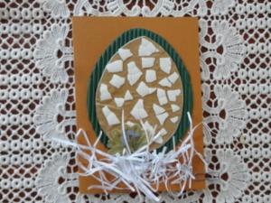 Osterkarte Ei, mit Blüte - Handarbeit kaufen