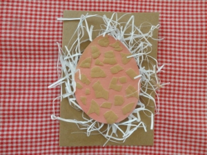Osterkarte Natur, Kraftkarton - Handarbeit kaufen