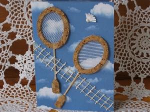 Grußkarte, Hobbykarte, Badminton