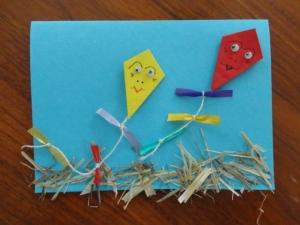 Drachenkarte Hochhinaus - Handarbeit kaufen