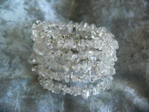Sehr schönes  Bergkristall Wickelarmband, sowohl elegant wie sportlich