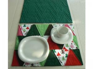 Weihnachtliches ★ Tischset ★ mit modernen Tannenbäumchen ♡♡♡