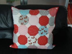 Maxi-Kissenbezug ★Füchse ★ mit Inlett, 55 cm x 55 cm - Handarbeit kaufen