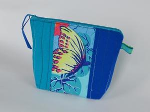 Kosmetiktäschchen ☀ Schmetterlinge ☀ mit Reißverschluss - Handarbeit kaufen
