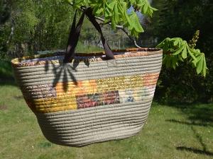 Markttasche ☀ geräumige Einkaufstasche ☀ mit Reißverschlussfach - Handarbeit kaufen