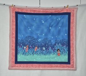 Kuschelige Babydecke ♥ Glühwürmchen ♥ mit ☀ niedlichen Kindermotiven ☀ - Handarbeit kaufen