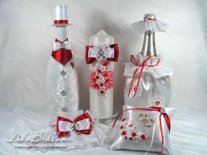 Luxus Vintage Hochzeitsset Hochzeitsaccessoires Zärtlichkeit M Rot