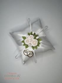 NEU Hochzeit Ringkissen ´Aphrodite´ Weiß - Handarbeit kaufen