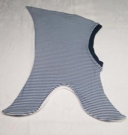 Zipfelmütze/Schlupfmütze, Streifen blau/weiß, Gr. 50-54 cm