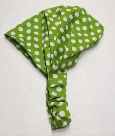 Haarband, Polkadots grün/weiß Gr. 2 , 50-56 cm Kopfumfang