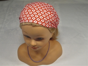 Haarband/Kopftuch * Blümchen * rot* Gr. 1 * 45-50 cm