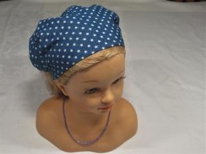 Haarband/Kopftuch * blau * Sterne/Stars *Gr.  2 *  50-56 cm *  jeans
