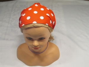 Haarband/Kopftuch * rot * weiß * Dots *  Polkadots * Gr. 3 * 56-64 cm