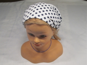 Haarband/Kopftuch * weiß * schwarz * Dots * Polkadots * Gr. 3 * 56-64 cm