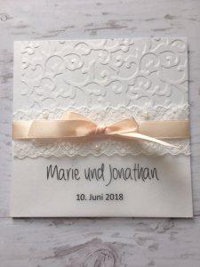Einladungskarte zur Hochzeit elegant