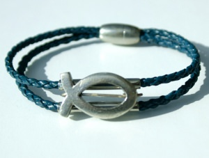 Armband doppelt mit Ichthys