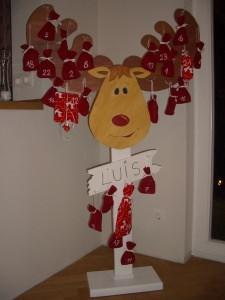 XXL Adventskalender Elch aus Holz ohne Säckchen zum Hinstellen (Kopie id: 100123806)