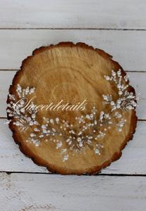 Haarschmuck für die Braut mit weißen Perlen Brautschmuck Brauthaarschmuck Diadem