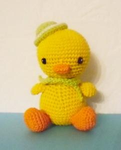 gehäkelte Ente Watschel , Kuscheltier aus Baumwolle , gelb