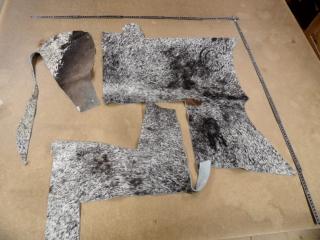 Kuhfell Reste Fellreste Kuhfellreste Stücke zum Basteln, echtes Kuhfell P3 (Kopie id: 100078570)