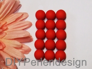 25  Acrylperlen in einem wunderschönen Rot, 7 mm