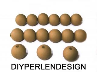 15 umbrafarbene Acrylperlen, 12 mm