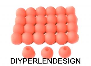 25  korallenfarbige Acrylperlen, 7 mm
