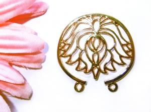 1 goldfarbener Lotusanhänger, Verbinder