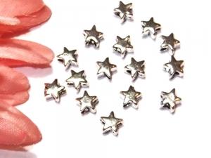 15 silberne Sterne aus Edelstahl, 5 mm